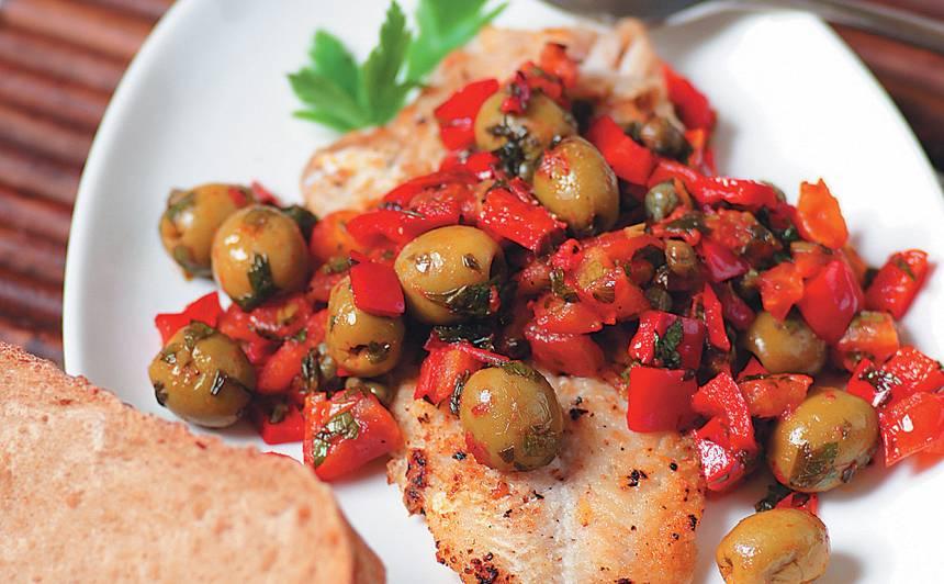 Zivs Vidusjūras garšaugos recepte