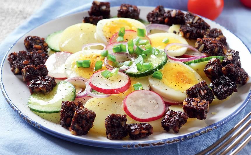 Salāti ar jaunajiem kartupeļiem recepte