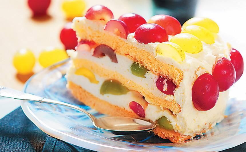 Torte ar baltvīna krēmu recepte