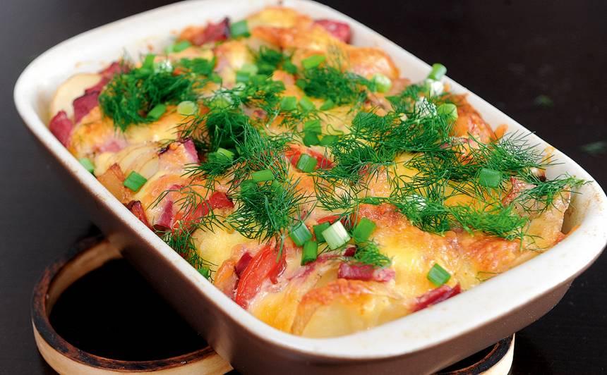 Jauno kartupeļu sacepums