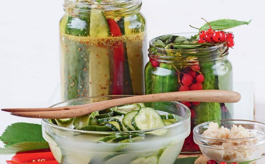 Gurķi jāņogu marinādē recepte
