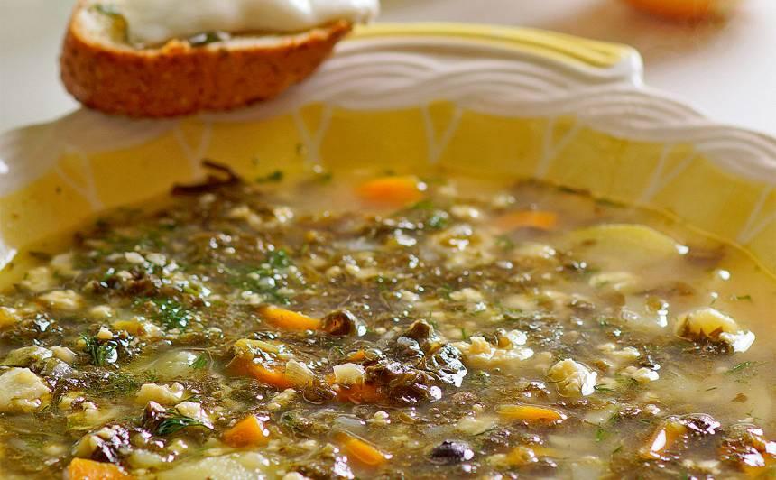 Skābeņu zupa ar ingveru recepte