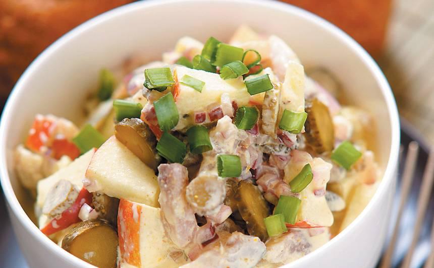 Siļķu salāti ar kariju recepte