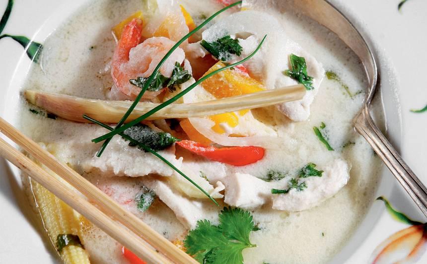 Tom Kha Gai ar ķirbi recepte