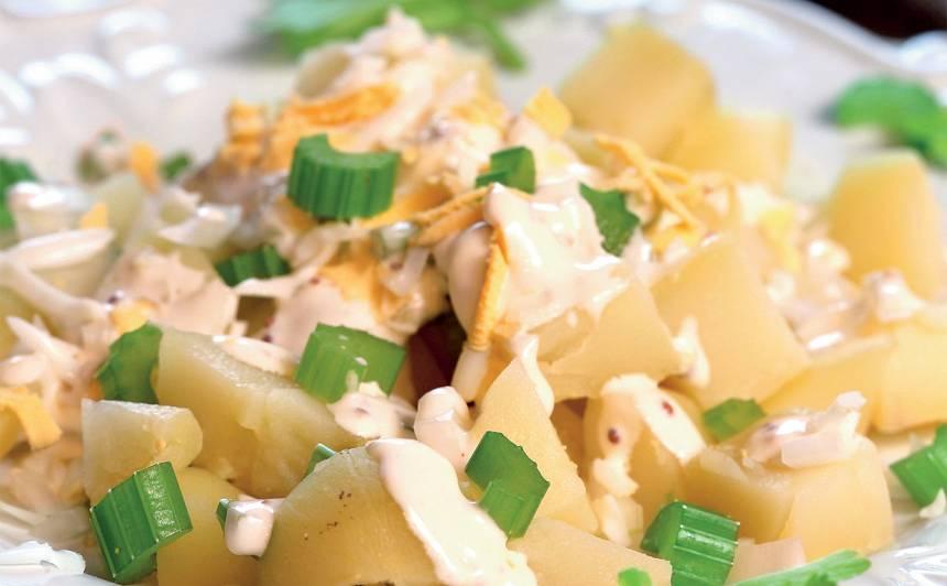 Veģetārie kartupeļu salāti