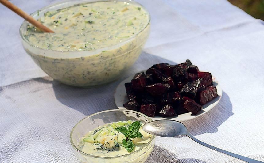 Pļavas aukstā zupa recepte