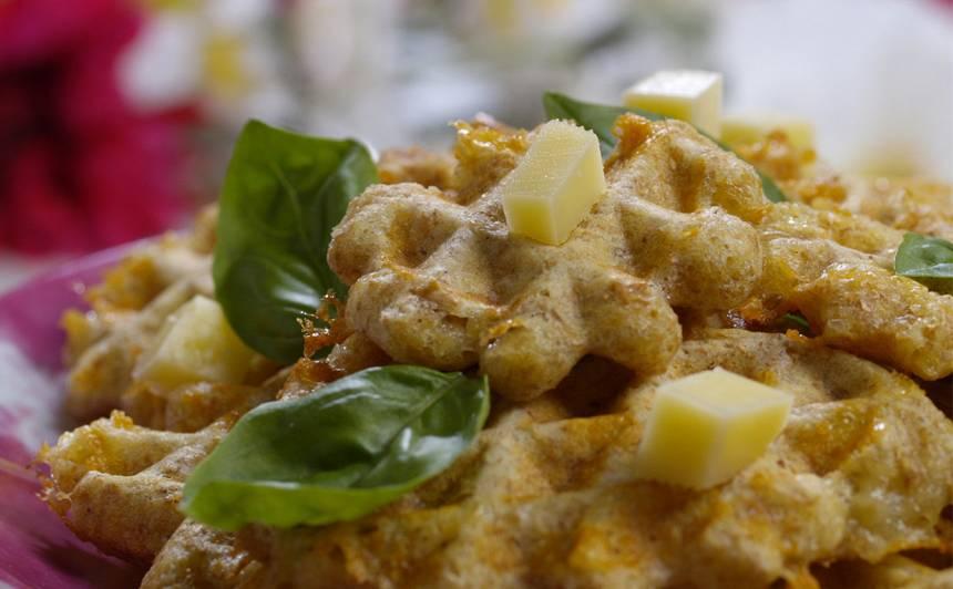 Sāļās vafeles ar sieru recepte