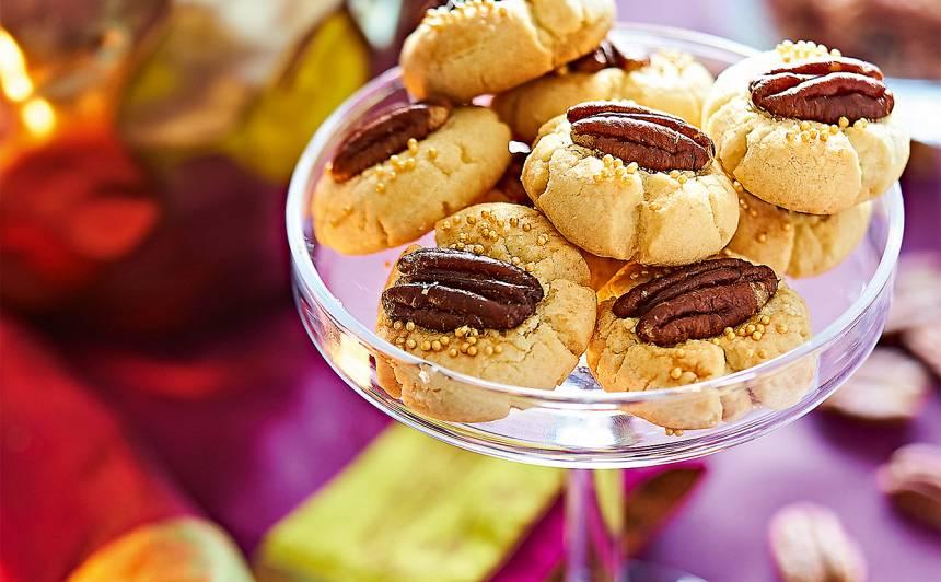 Mandeļu un pekanriekstu cepumi recepte
