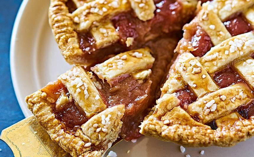 Rabarberu pīrāgs recepte