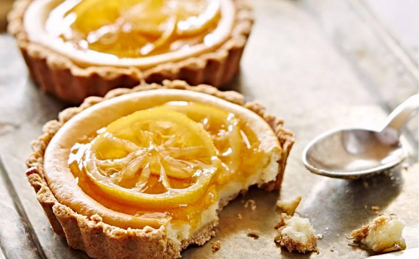 Krēmsiera un citronu tartletes