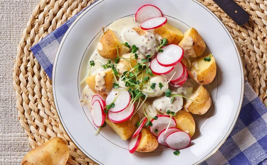 Kartupeļu salāti ar sinepēm