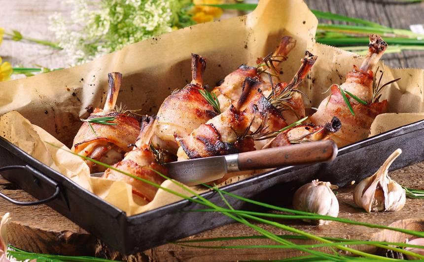 Pikantie vistu stilbiņi ar bekonu recepte