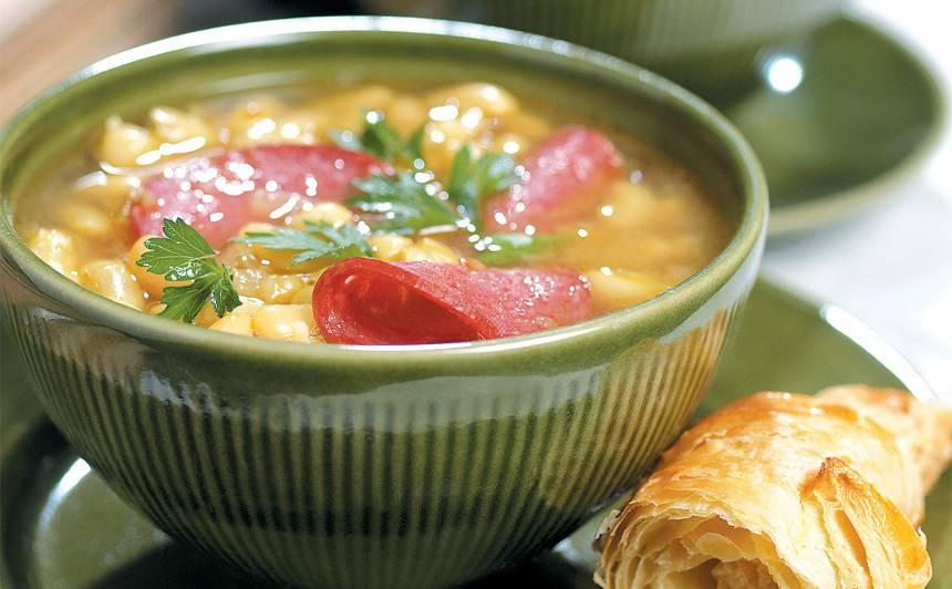 Pupu zupa ar salami recepte