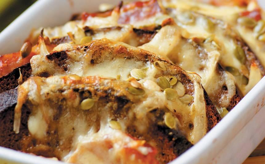 Maizes sacepums ar bekonu un sīpoliem recepte