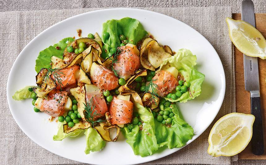 Salāti ar lasi recepte