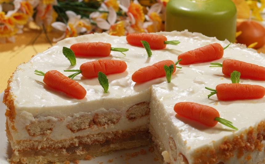 Lieldienu siera kūka ar ananasu pildījumu recepte