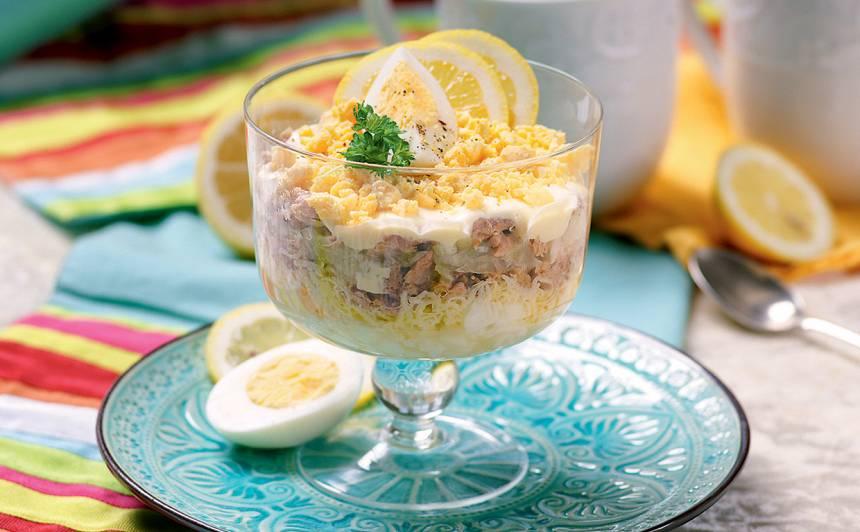 Kārtainie olu salāti recepte