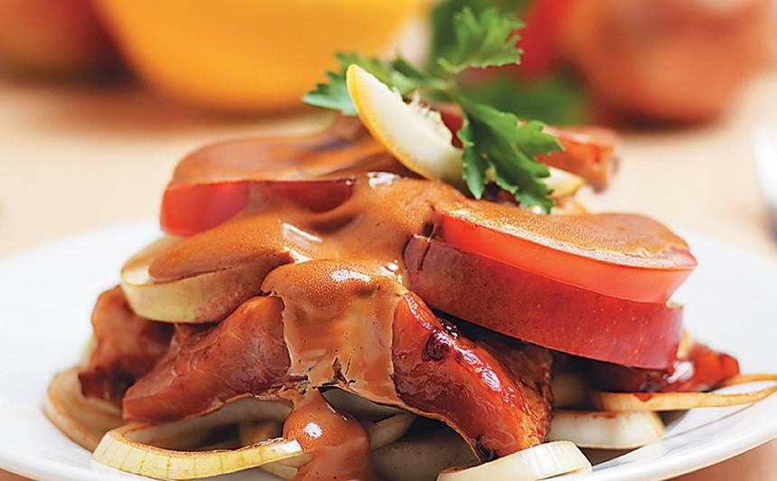 Sautēta karpas fileja ar āboliem recepte