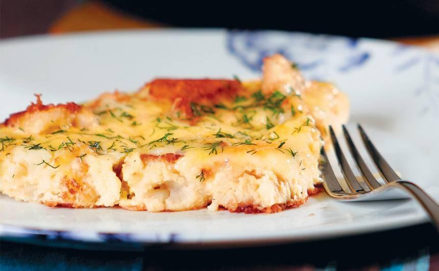Panētu ziedkāpostu omlete ar sieru recepte
