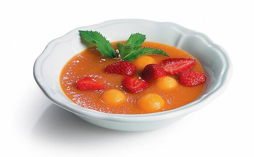 Saldā meloņu un aprikožu zupa recepte