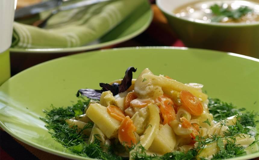 Jauno dārzeņu sautējums recepte