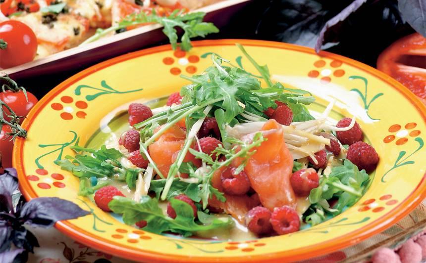 Laša salāti ar avenēm un fenheli recepte
