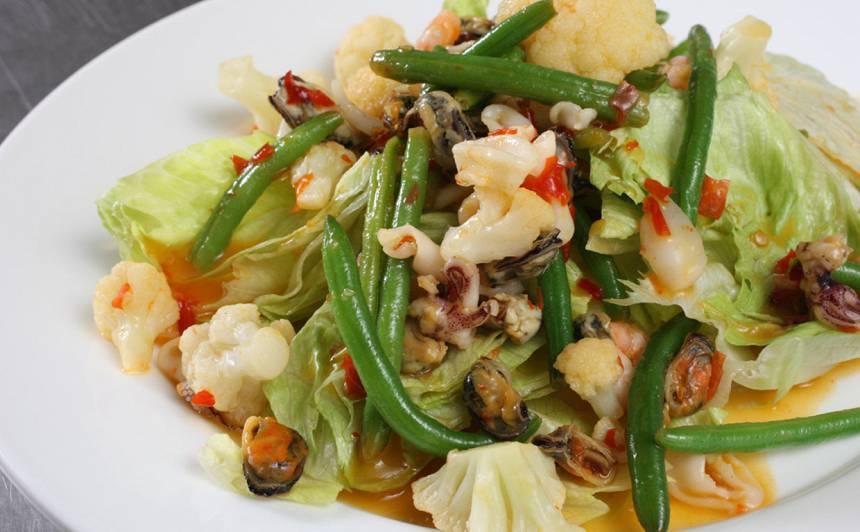 Jūras veltes ar dārzeņiem recepte