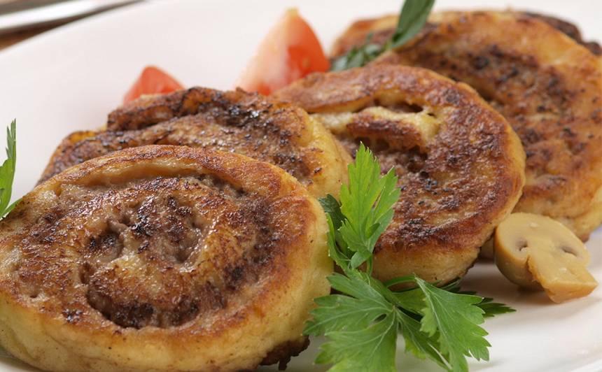 Kartupeļu un gaļas spirāles recepte