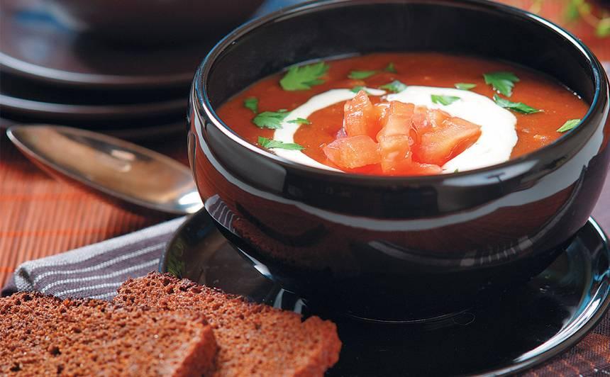 Maizes zupa ar tomātiem recepte