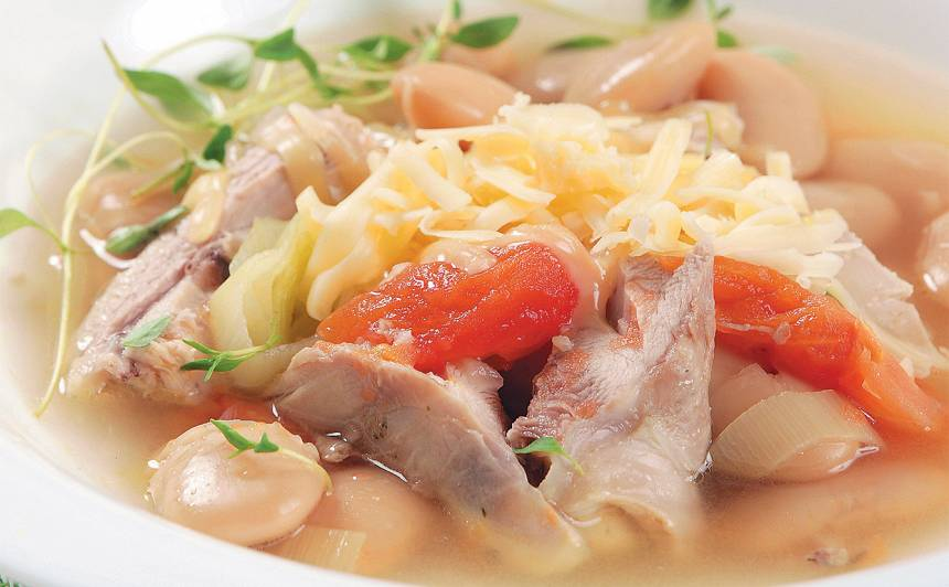 Vistas zupa ar pupām recepte