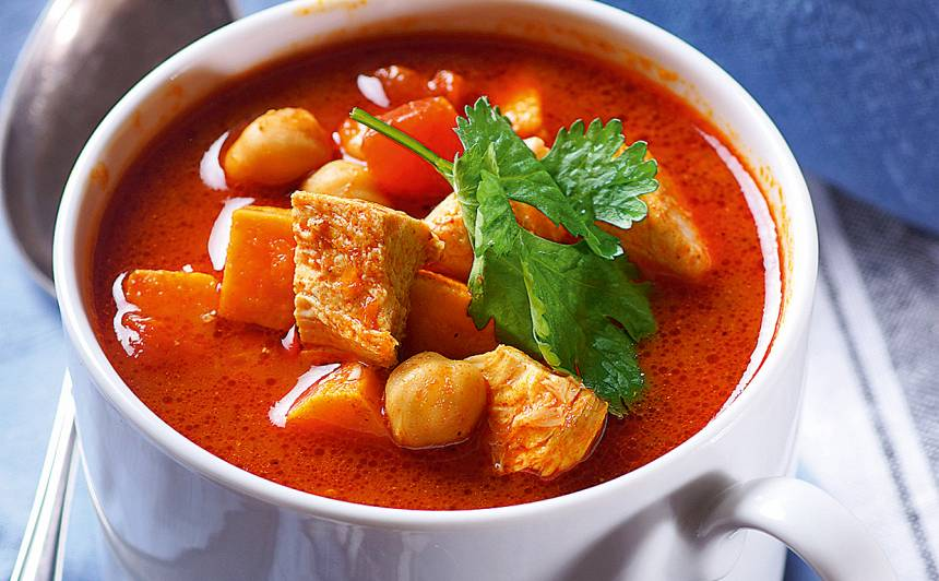 Vistas zupa Indijas stilā recepte