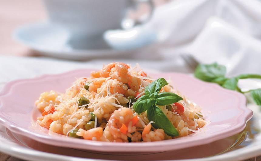 Risoto ar garnelēm un papriku recepte