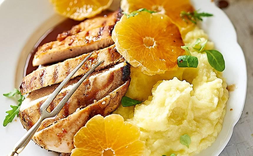 Grilēta vistas fileja ar mandarīniem