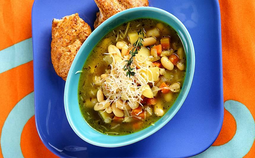 Dārzeņu zupa ar pupiņām recepte