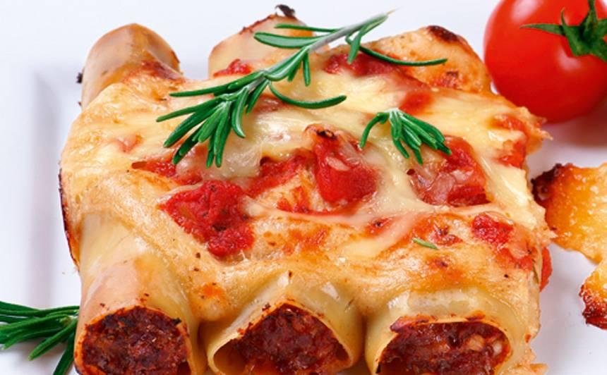 Kaneloni pildīti ar malto gaļu recepte