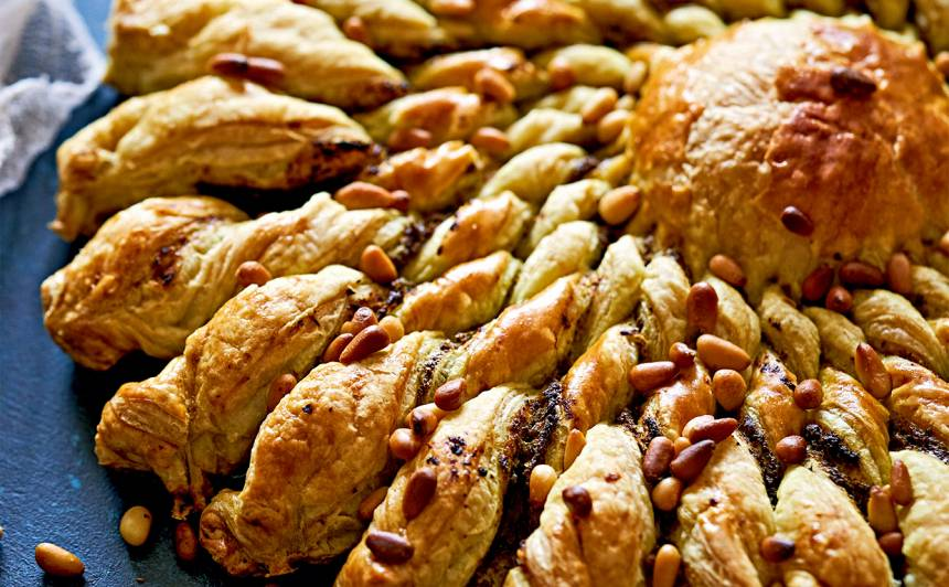 Saules kūka ar pesto recepte