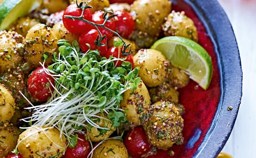 Pikantie kartupeļu salāti