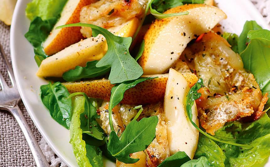 Bumbieri siera un salātu apskāvienos receptes