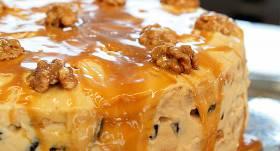 Valriekstu un īrisa bezē kūka recepte