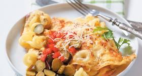 Makaronu omlete recepte