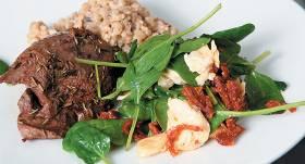 Spinātu salāti recepte