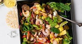 <strong>Jūras velšu salāti</strong> ar ananasu un sēnēm