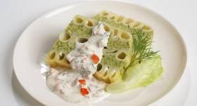 Makaronu caurulīšu sacepums ar brokoļiem recepte