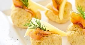 Pildīti siera pufiņi recepte
