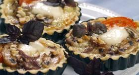 Sēņu groziņi ar mocarellu recepte