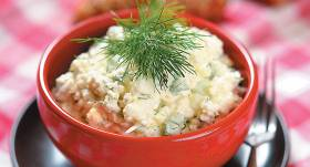 Ziedkāpostu salāti ar olu recepte