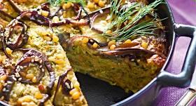 Cukīni, baklažānu un siera kūka receptes