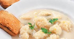 Ziedkāpostu zupa ar saldo krējumu recepte