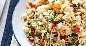 Jūras veltes ar rīsiem
