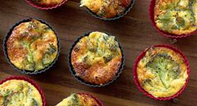 Brokoļu un olu mazās tartes recepte